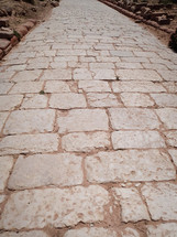 A Roman paved street in Petra.