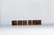 growth letter blocks