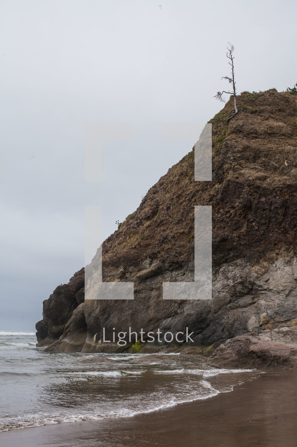 rock formation on the shore