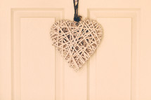 heart shape hanging on a door