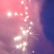 sparks from fireworks