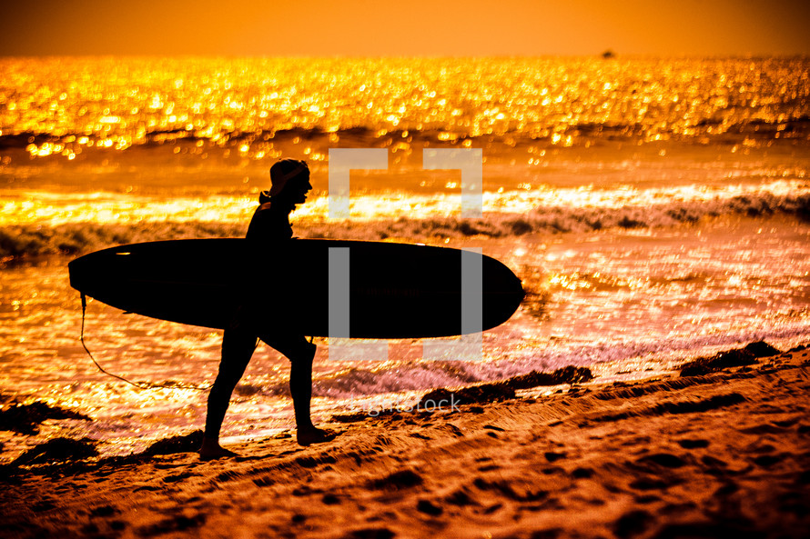 Silhouette of a Surfer