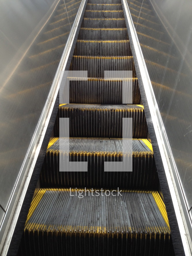 stairs on an escalator
