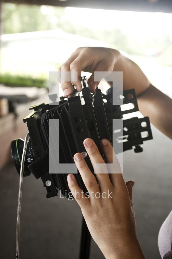 adjusting a camera