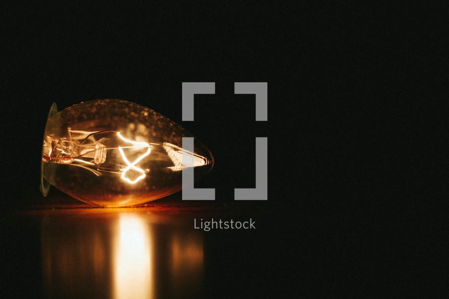 A bright light bulb.