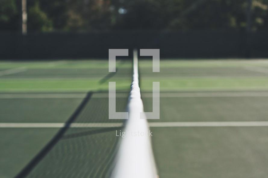 nets on a tennis court