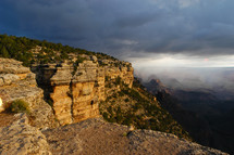 Grand Canyon storm clouds at dawn