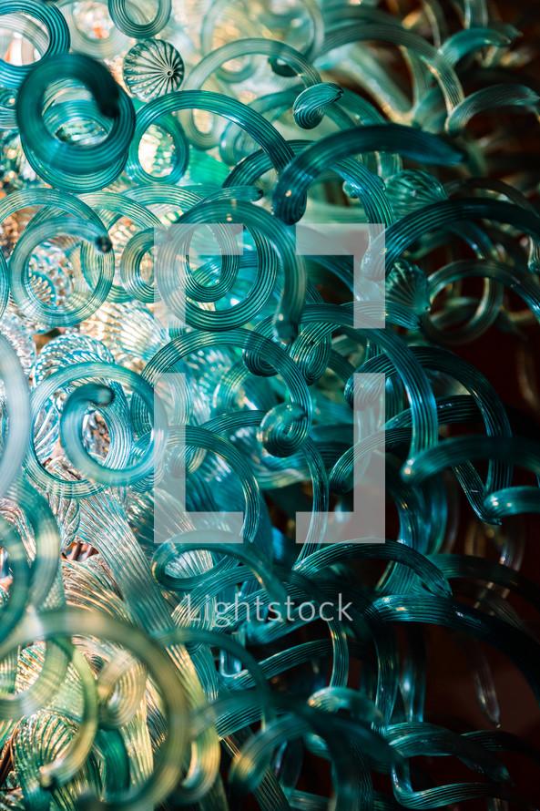Glass lighting sculpture texture chandelier