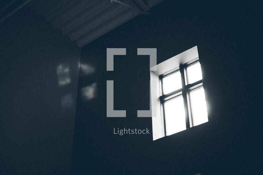 light shining through a window