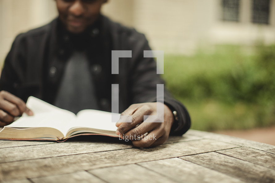 Man reading his bible