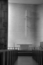 altar and aisle of a church