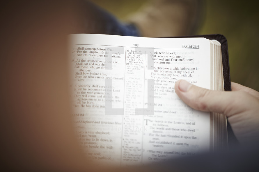 A person reading the Psalms