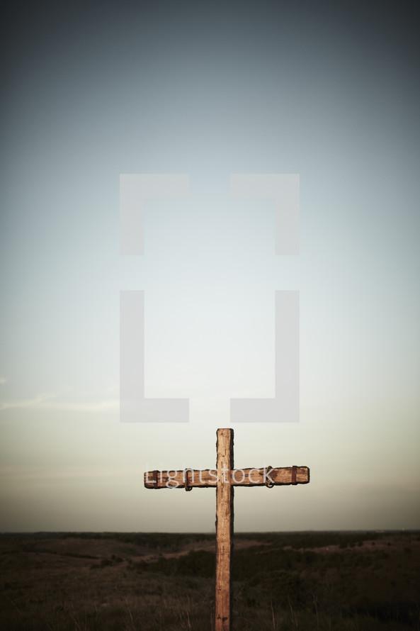 Sunlight shining on a cross