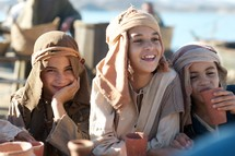 happy children during biblical times