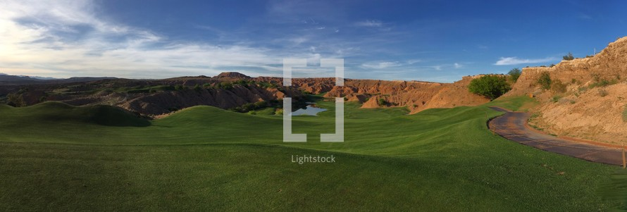 mountaintop golf course in Mesquite, Nevada