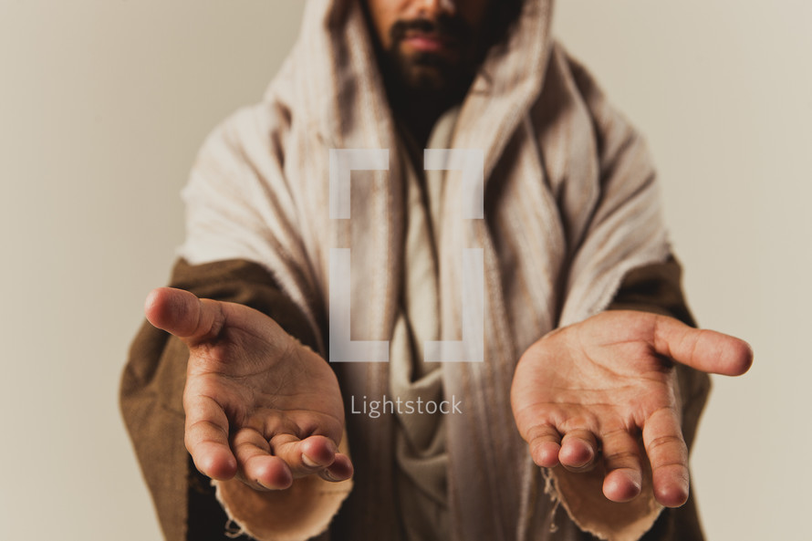 The open hands of Jesus