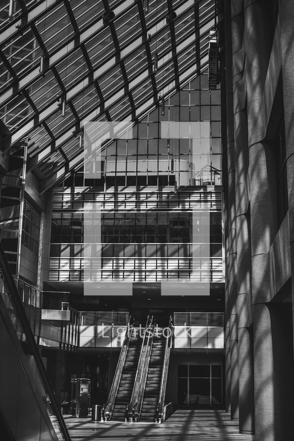 skylight windows in a lobby