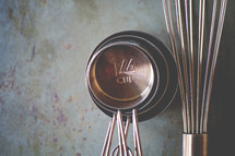 measuring cups and whisk