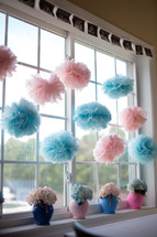 Nursery window decorations.