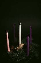 Advent candles & wreath