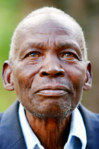 African Elderly man smiling missions Uganda