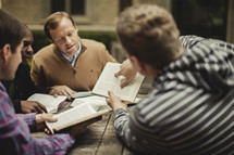 Men having bible study