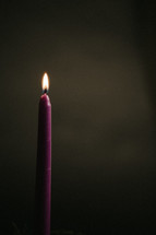 burning candle on an advent wreath