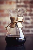 Fresh coffee in a Chemex