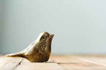 brass bird figurine