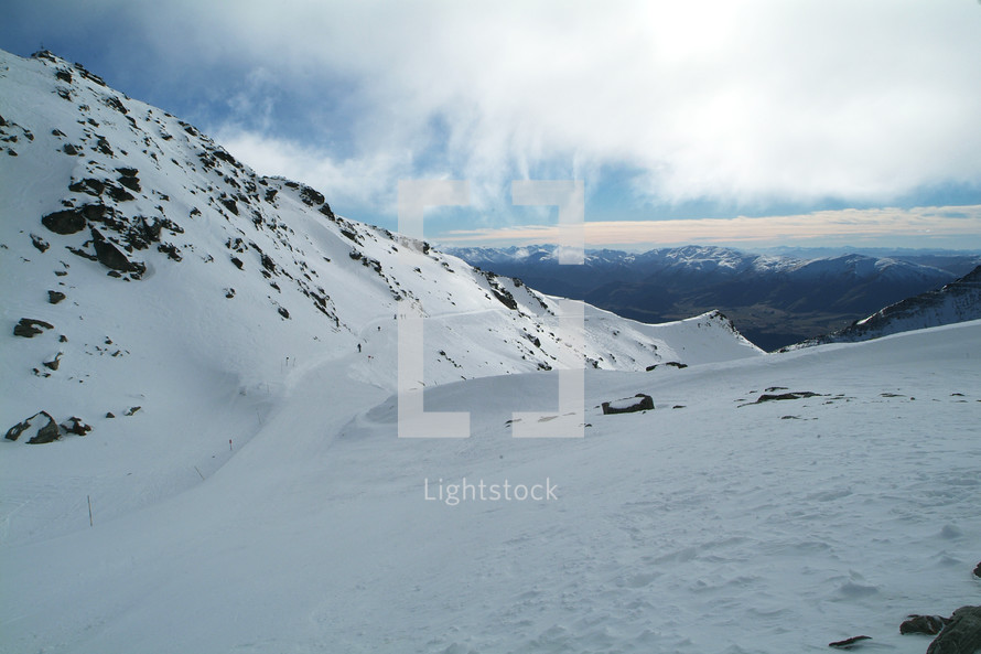 Snow-covered mountainside