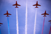 patriotic display by jets