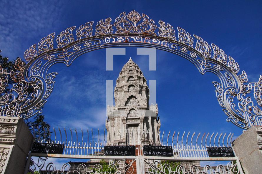 Gateway to Buddhist Monastery.