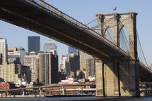Brooklyn  Bridge spanning the East River