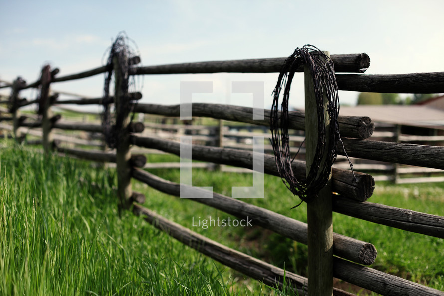 fence post and barbed wire wreaths