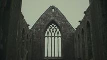 ruins at a church