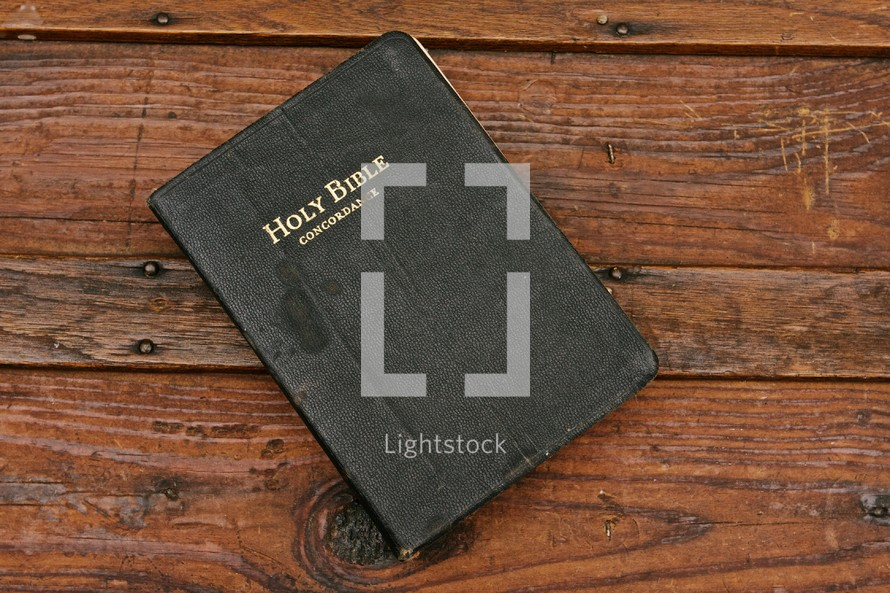 The cover of a bible concordance