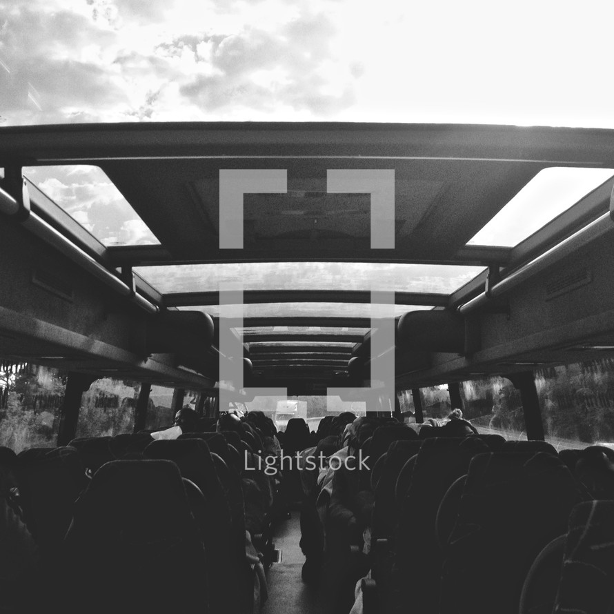 Sitting on a bus