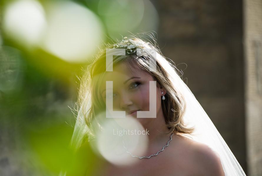 head shot of bride