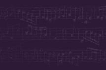 music notes in purple