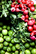 Radishes and limes.