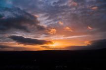Early morning sunrise breaking through.