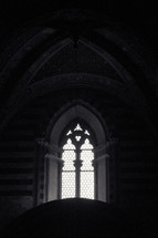 light from a church window