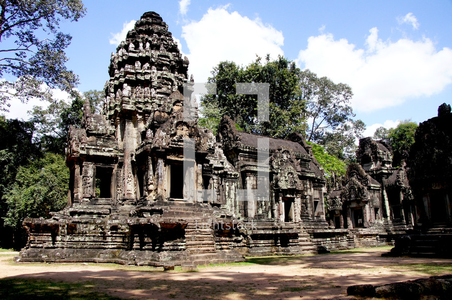 buddhist temple ruins. Jungle, ancient, hindu.