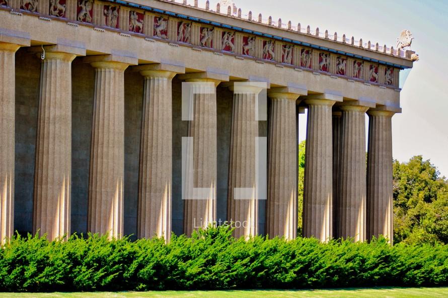 Greek Parthenon building,