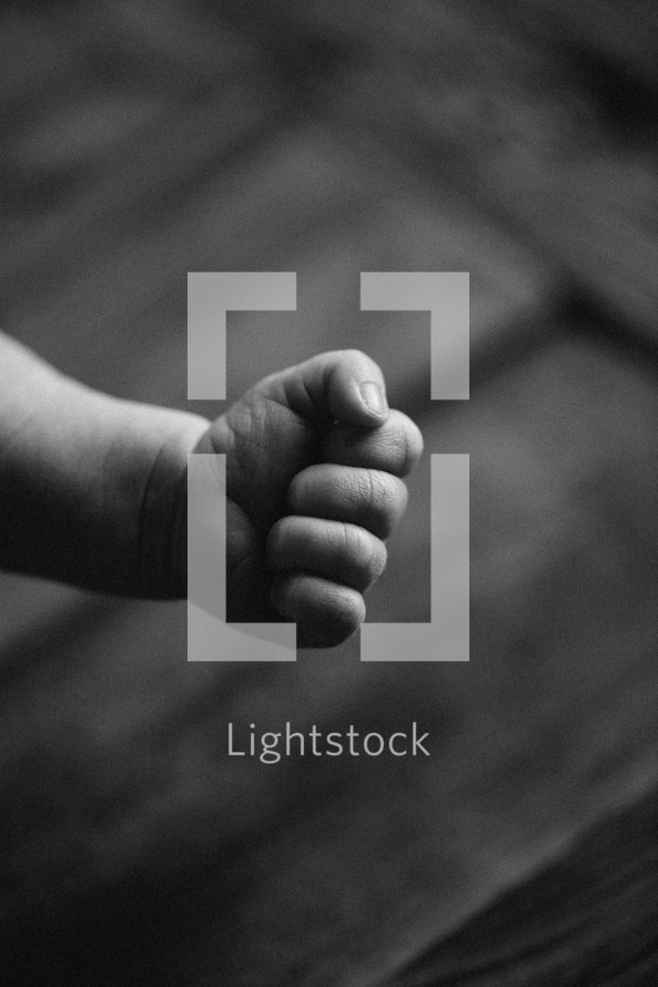 A baby's hand