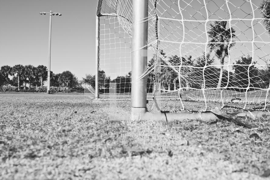 Soccer field net