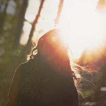 girl in sunbeams