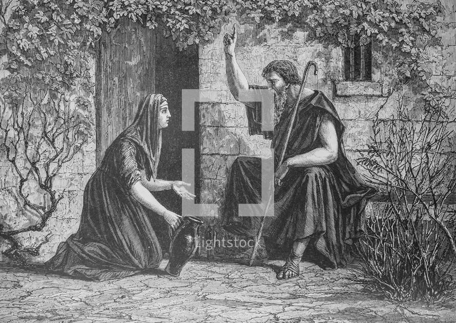 washing Jesus' feet