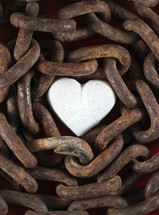 chain around a heart