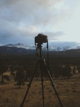camera and mountains